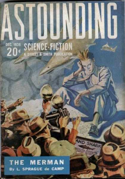 Astounding Stories 97 - Sharks - December 1938 - Science Fiction - Science-fiction - The Merman