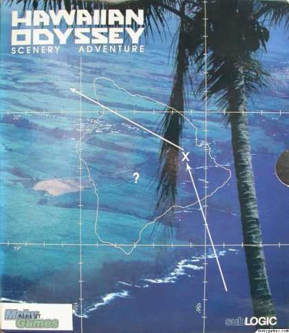 Atari ST Games - Hawaiian Odyssey Scenery Adventure