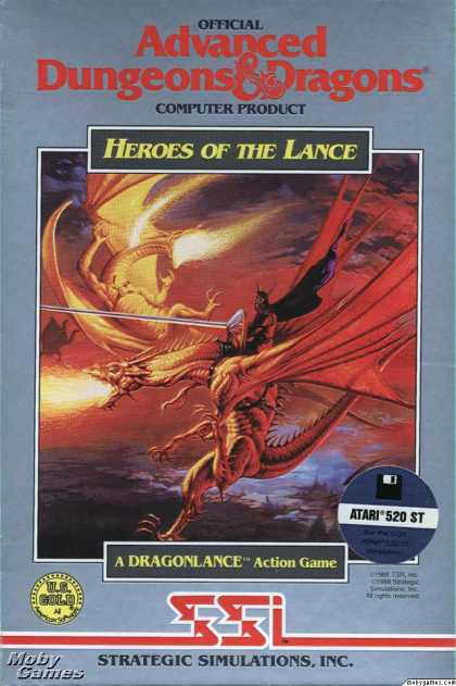 Atari ST Games - Heroes of the Lance