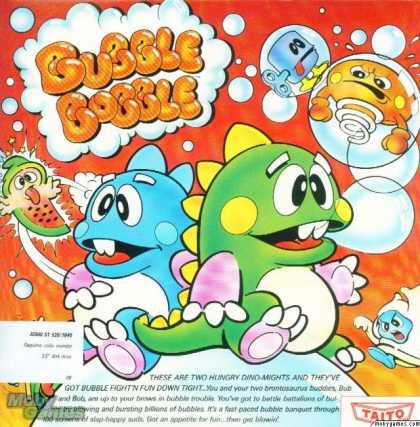 Atari ST Games - Bubble Bobble