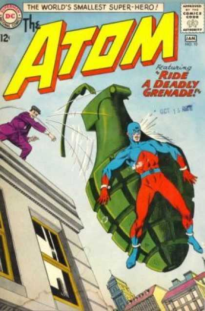 Atom 10 - Worlds Smallest Super-hero - The Atom - Deadly Grenade - Man In Purple Suit - 12 Cents - Murphy Anderson