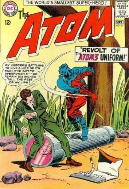 Atom 14 - The Worlds Smallest Super-hero - Fighting - Stones - Torch Lite - My Uniforms Batting To Live A Life Of Its Own - Murphy Anderson