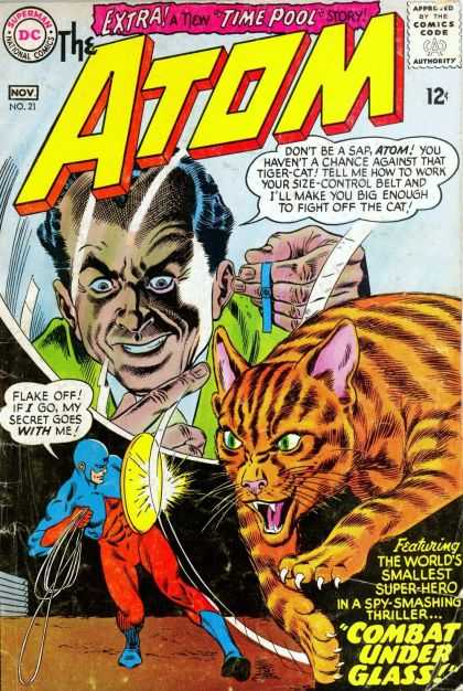 Atom 21 - Time Pool - Tiger-cat - Worlds Smallest Super Hero - Combat Under Glass - Secret - Murphy Anderson