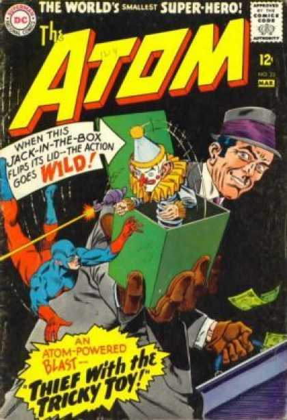 Atom 23 - Jack-in-the-box - Money - Briefcase - Thief With The Tricky Toy - Gun - Murphy Anderson