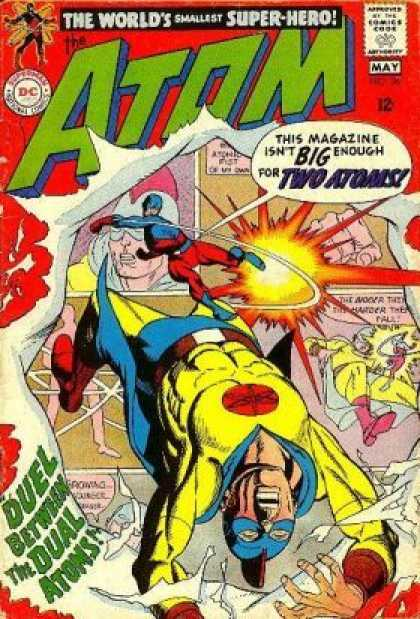 Atom 36 - The Worlds Smallest Super Hero - Approved By The Comics Code Authority - Big - Two Atoms - Duel Between The Dual Atoms