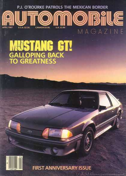 Automobile - April 1987