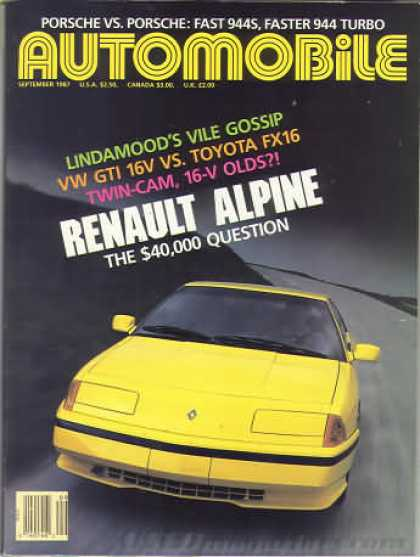 Automobile - September 1987