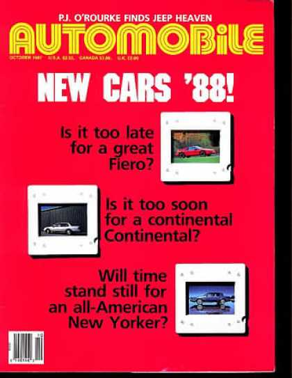 Automobile - October 1987