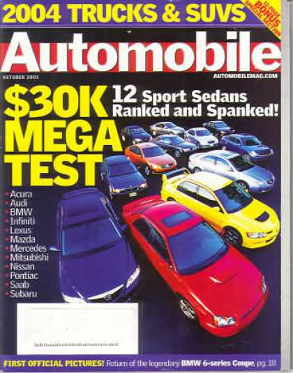 Automobile - October 2003