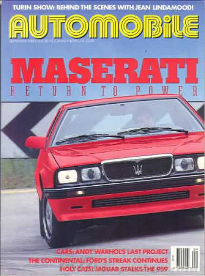 Automobile - September 1988