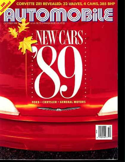 Automobile - October 1988