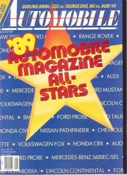 Automobile - January 1989