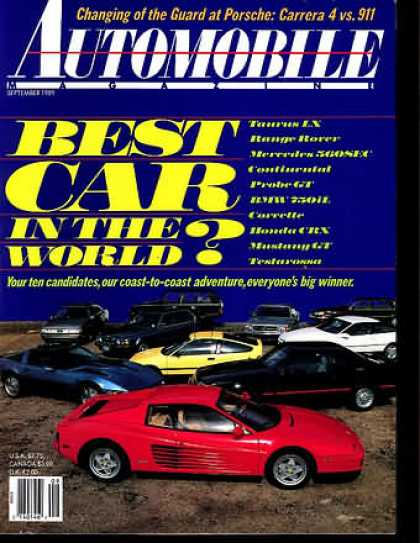 Automobile - September 1989