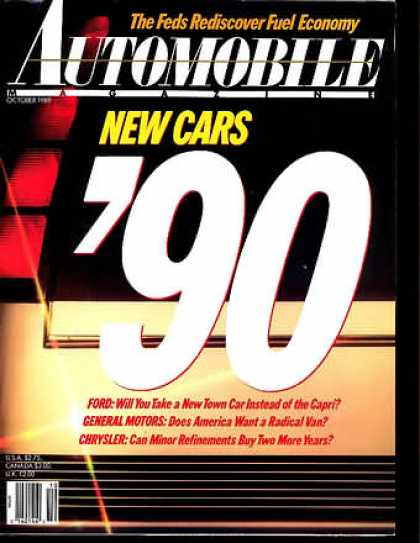 Automobile - October 1989