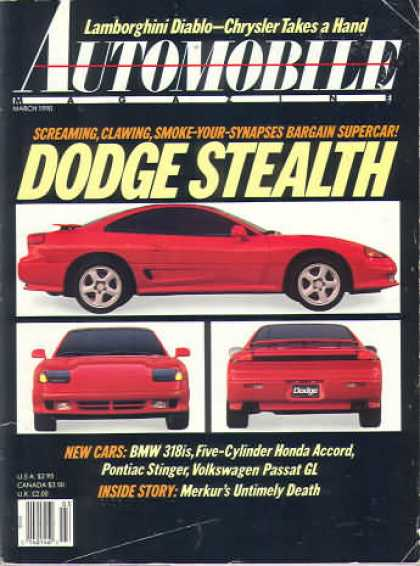 Automobile - March 1990