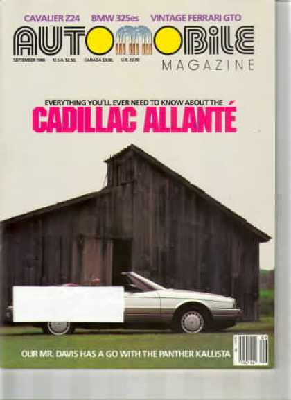 Automobile - September 1986