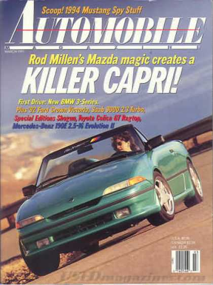Automobile - March 1991