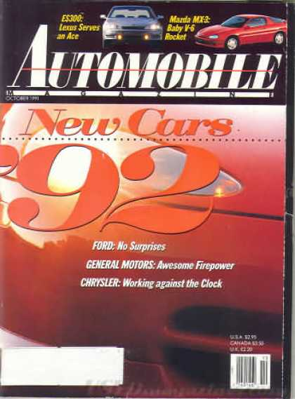 Automobile - October 1991