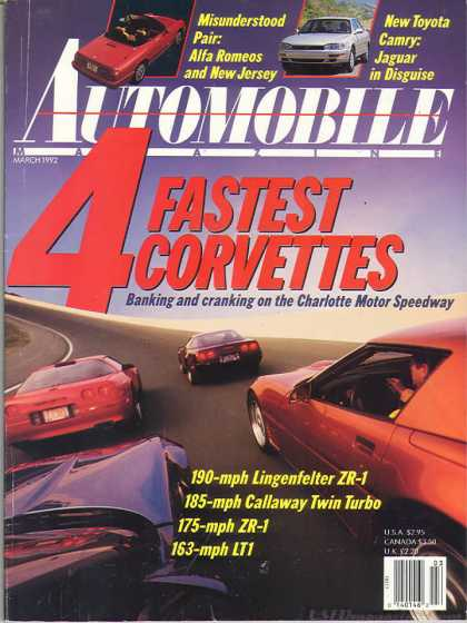 Automobile - March 1992
