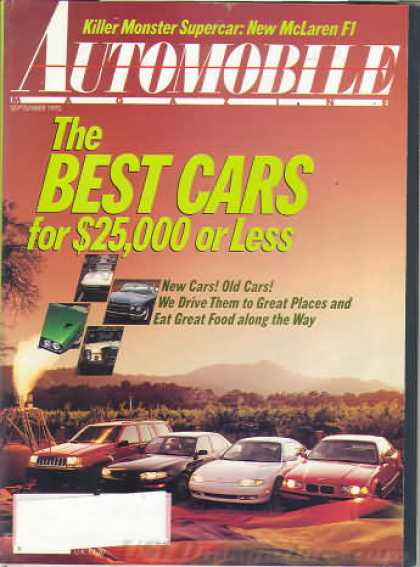 Automobile - September 1992