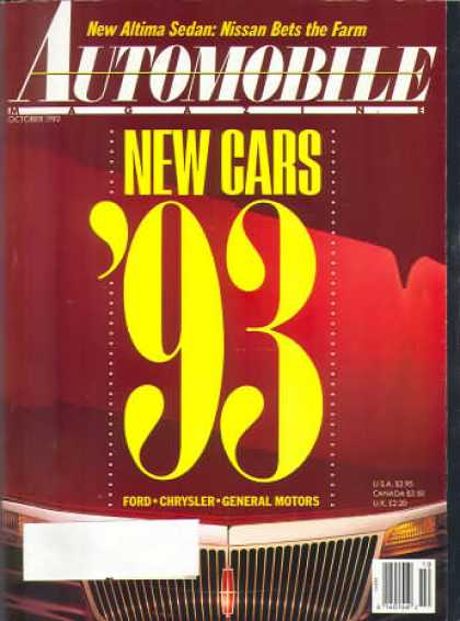 Automobile - October 1992
