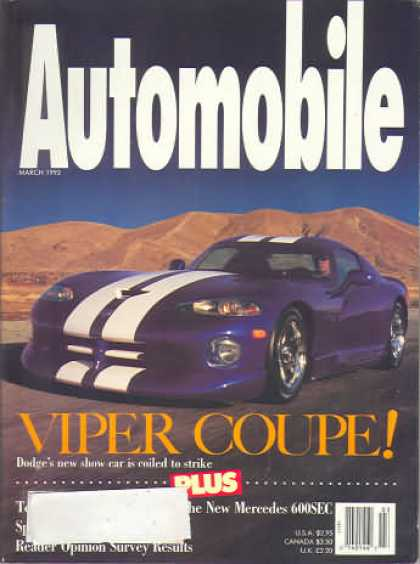Automobile - March 1993