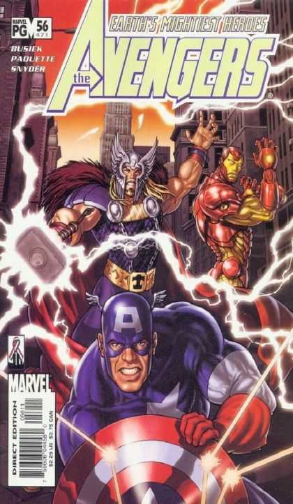 Avengers (1998) 56 - Earths Mightiest Heroes - Lightning - Hammer - Iron Man - Captain America