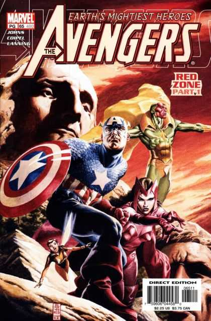 Avengers (1998) 65 - Marvel - Earths Mightiest Heroes - Red Zone Part 1 - Direct Edition - 225 Us - J Jones