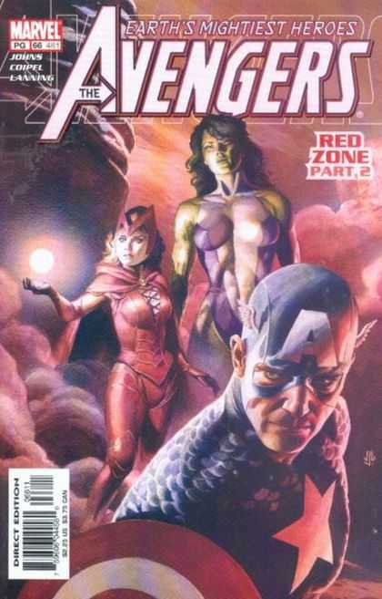 Avengers (1998) 66 - Red Zone Part 2 - She Hulk - Scarlet Witch - Captain America - Clouds - J Jones
