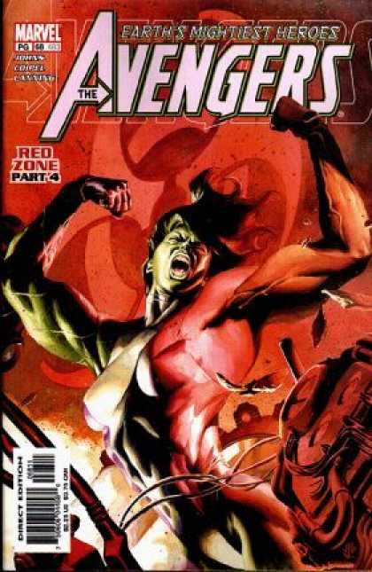 Avengers (1998) 68 - Red Zone Part 4 - Muscles - Red - Earths Mightiest Heroes - Marvel - J Jones