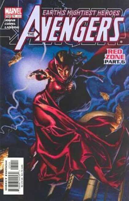 Avengers (1998) 70 - Marvel Comics - Red Zone Part 6 - Clouds - Lightning - Earths Mightest Heros - J Jones