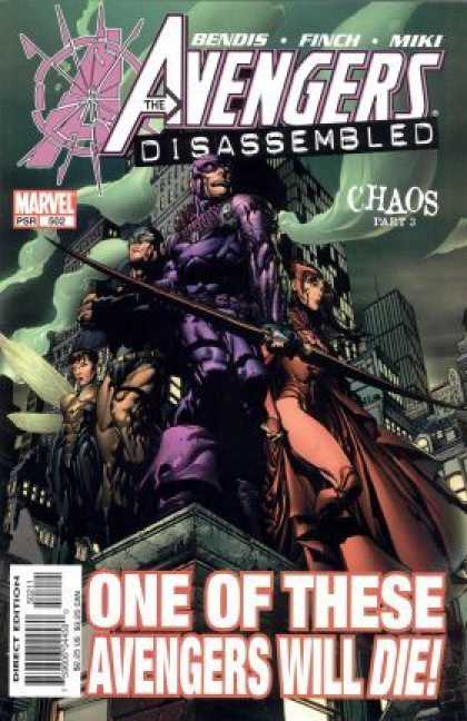 Avengers (1998) 87 - Disassumbled - Chaos Part 3 - Marvel Comics - One Will Die - Building Top