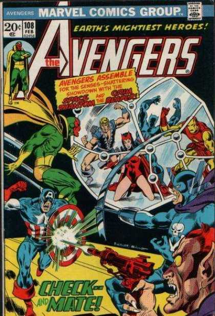 Avengers 108 - Earths Mightiest Heroes - Space Phantom - Grim Reaper - Check-mate - Captain America - Joe Sinnott, Richard Buckler