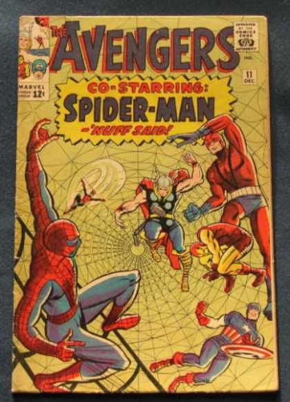 Avengers 11 - Approved By The Comics Code Authority - Marvel - 11 Dec - Spiderman - Nest - Charles Stone, Jack Kirby