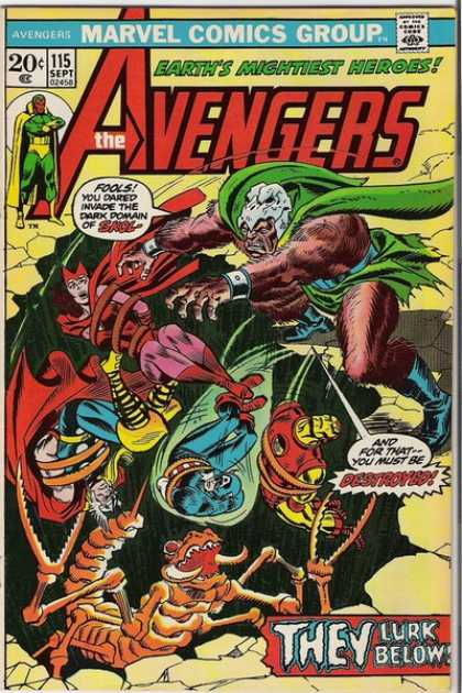 Avengers 115 - Iron Man - Marvel - Skull - Green Cape - Thor
