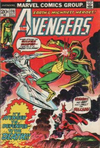 Avengers 116 - Avengers Marvel Comics Group - Earths Mightiest Heroes - The Avengers - 20 Cents - 116 Oct