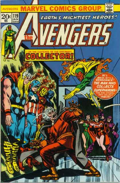 Avengers 119 - Collector - Inner Demons - The Final Battle - Super Hero Come Back - The Last Villain