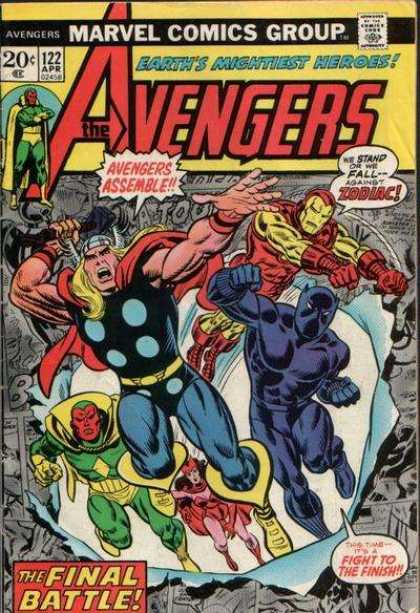 Avengers 122 - Thor - Ironman - Zodiac - Fight - Battle