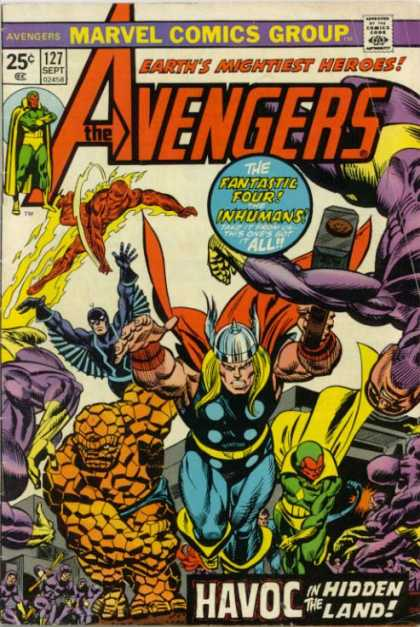Avengers 127 - Thor - Thing - Marvel Comics Group - Earths Mightiest Heroes - 127 Sept