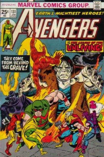 Avengers 131 - Fire - Zombie - Thor - The Avengers - They Come From Beyond The Grave