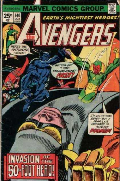 Avengers 140 - Help Comming - Yellow Jacket - Come Fast - Slide - Team