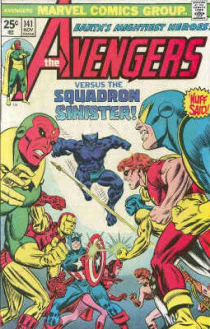 Avengers 141 - Squadron Sinister - Marvel - Nuff Said - Fighting - Mightiest