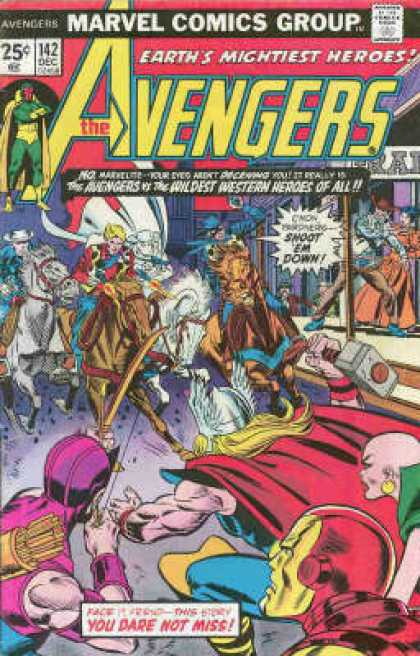 Avengers 142 - Western - Marvel - Earths Mightiest Heroes - Wildest - Shot