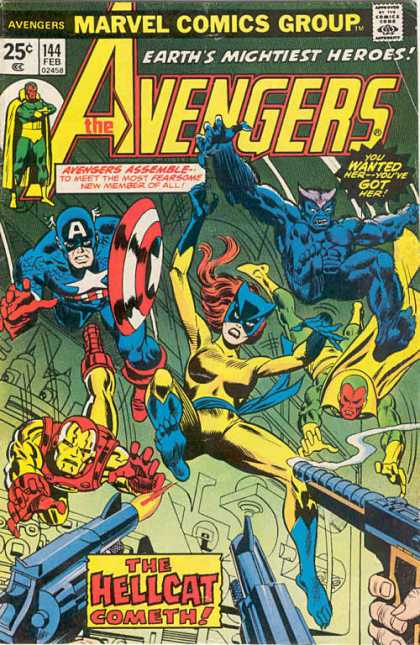 Avengers 144 - Marvel - Feb - Assemble - Captain America - Hellcat