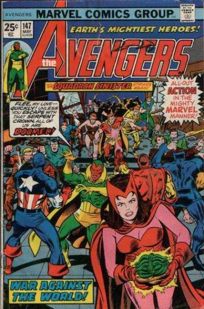 Avengers 147 - Captain America - Marvel Comics - Squadron Sinister - 147 May - War Against The World - Jack Kirby