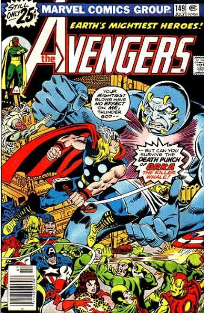 Avengers 149 - Mighty Superheros - Thor - Spiderman - Evil Villans - Deenders Fo Justice