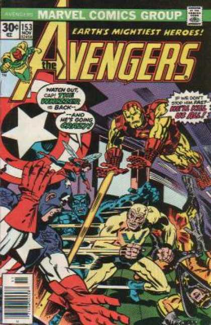 Avengers 153 - Captain America - Iron Man - The Whizzer - Earths Mightiest Heroes - Action - Jack Kirby