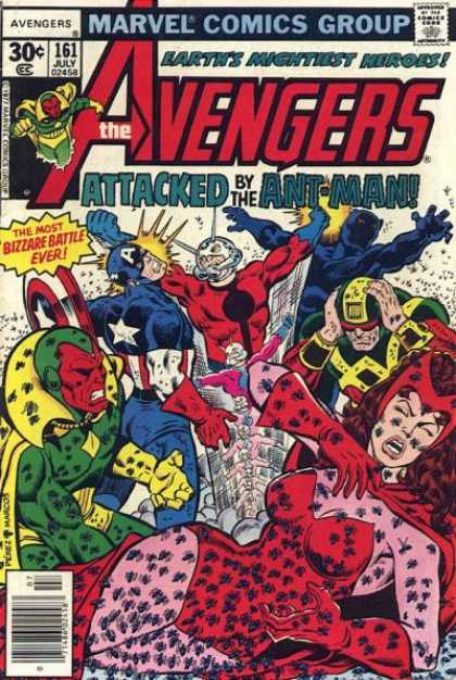 Avengers 161 - Vision - Captain America - Scarlet Witch - Black Panther - Mask - George Perez