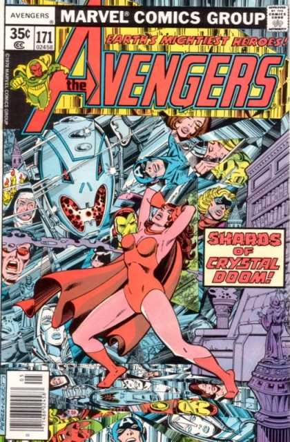 Avengers 171 - Scarlet Witch - Captain America - Avengers - Approved By The Comics Code Authority - Marvel Comics Group - George Perez