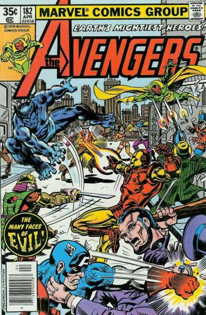 Avengers 182 - Earth Mightiest Heroes - The Avengers - Captain America - Marvel - Comics